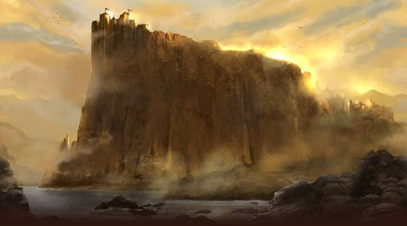 The seat of the Westernlands, Casterly Rock, overlooking the Sunset Sea