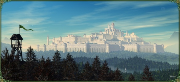 Highgarden, a majestic castle and seat to House Tyrell
