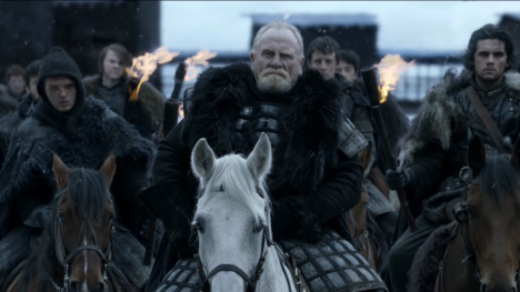 The Night's Watch, led by Lord Commander Mormont