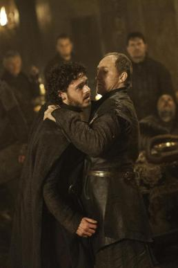Lord Bolton puts his dagger into the belly of Robb Stark