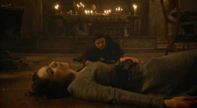 Robb and his wife Lady Talisa, both dying at the Red Wedding