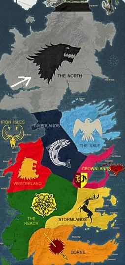North on map