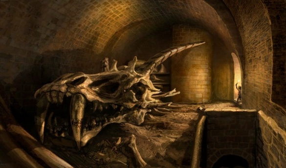 An ancient dragon skull, found in the hidden cellars of the Red Keep