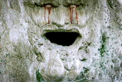 A face carved into a weirwood tree thousands of years ago by the Children