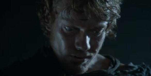 Theon, after learning of Robb Stark's death