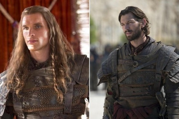The original actor on left; new actor on right