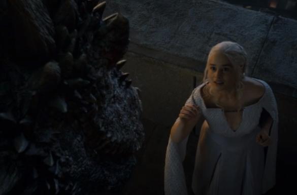 Drogon returns to Khaleesi
