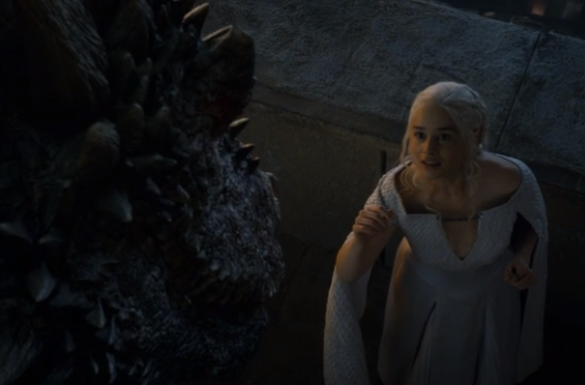 Drogon returns to Khaleesi