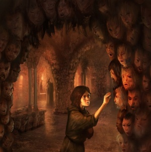 Artist depiction of Arya and the faces