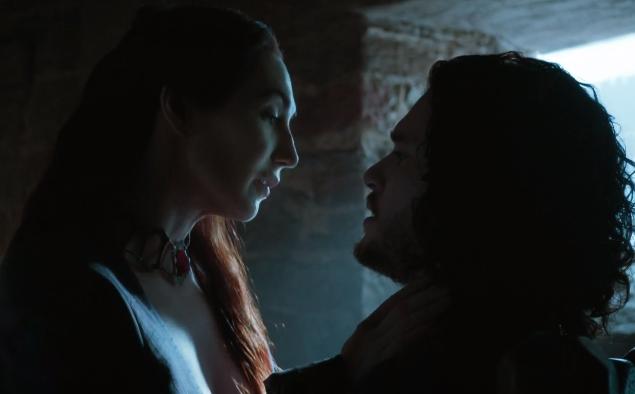 Melisandre telling Jon Snow that he has great power inside of him