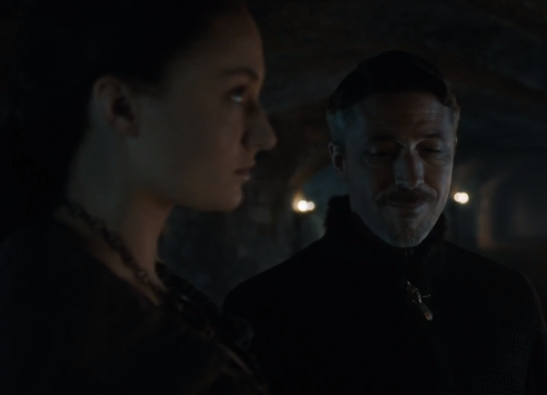 Baelish smirks as if to imply he knows more about Lyana and Rhaegar