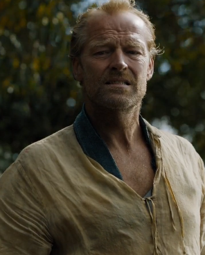 The pain on Jorah's face after learning of his father's death