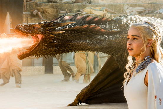 Khaleesi and Drogon