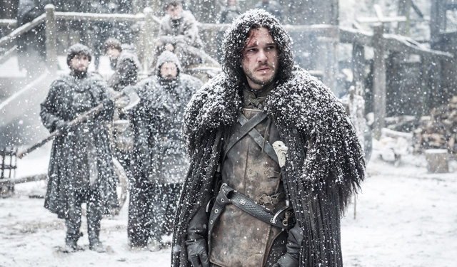 Jon Snow returns to the Wall, snow falling harder than ever