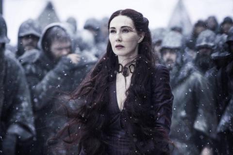 Melisandre looks on as Shireen burns