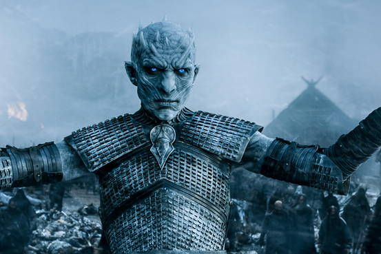 The Night King raising up his wights